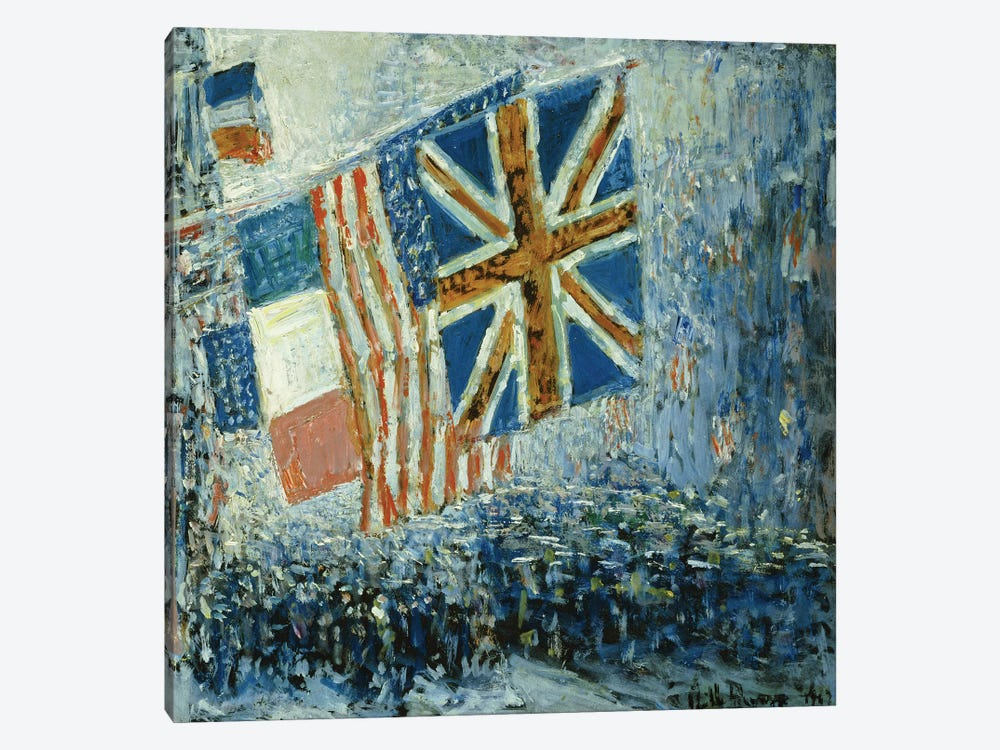 The Big Parade, 1917  by Childe Hassam 1-piece Canvas Print