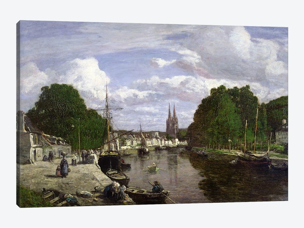 The Port at Quimper, 1857 by Eugene Louis Boudin 1-piece Canvas Artwork