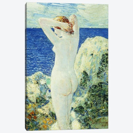 The Bather, 1919  Canvas Print #BMN5730} by Childe Hassam Canvas Print