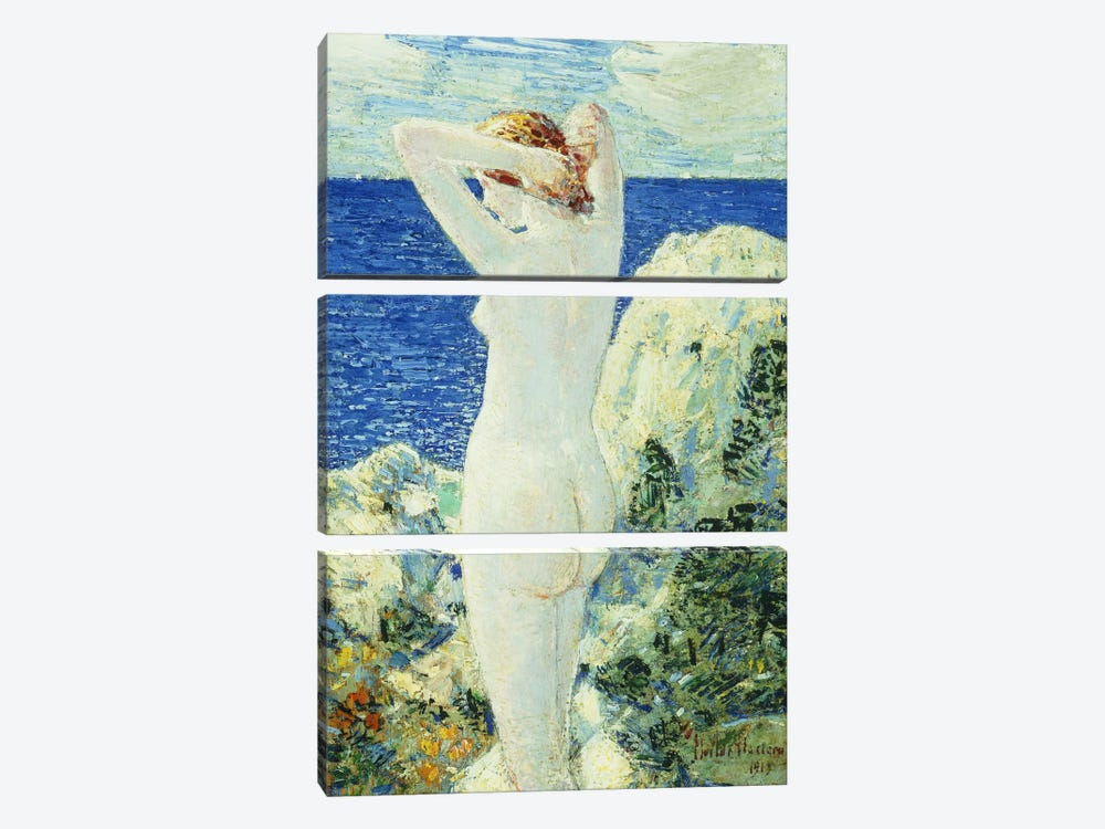 The Bather, 1919  by Childe Hassam 3-piece Canvas Art Print