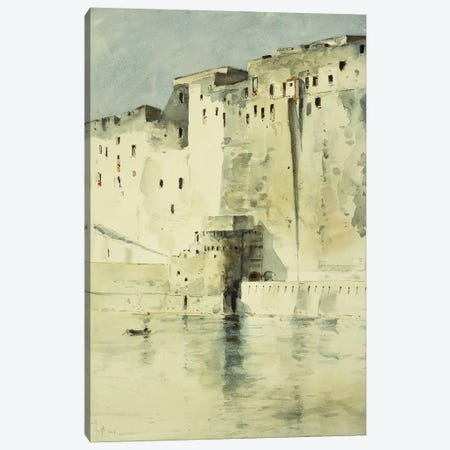 Old Fortress Naples Canvas Print #BMN5732} by Childe Hassam Canvas Art Print