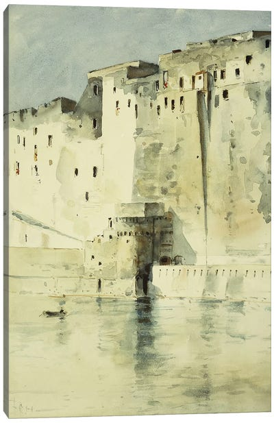 Old Fortress Naples Canvas Art Print