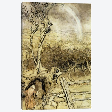 So Nobody Can Quite Explain Exactly Where the Rainbows End, 1914  Canvas Print #BMN5735} by Arthur Rackham Canvas Art