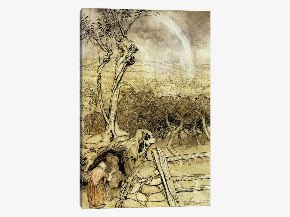 So Nobody Can Quite Explain Exactly Where the Rainbows End, 1914  by Arthur Rackham 1-piece Canvas Artwork