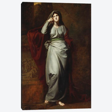 Il Penseroso (Melancholy) Canvas Print #BMN5736} by George Romney Canvas Art