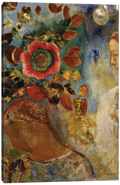 Two Young Girls with Flowers; Deux Jeunes Filles en Fleurs, 1912  Canvas Art Print