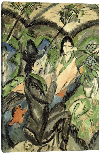 Couple under Japanese Parasols (Paar Unter der Japanschirm), 1902 Canvas Art Print