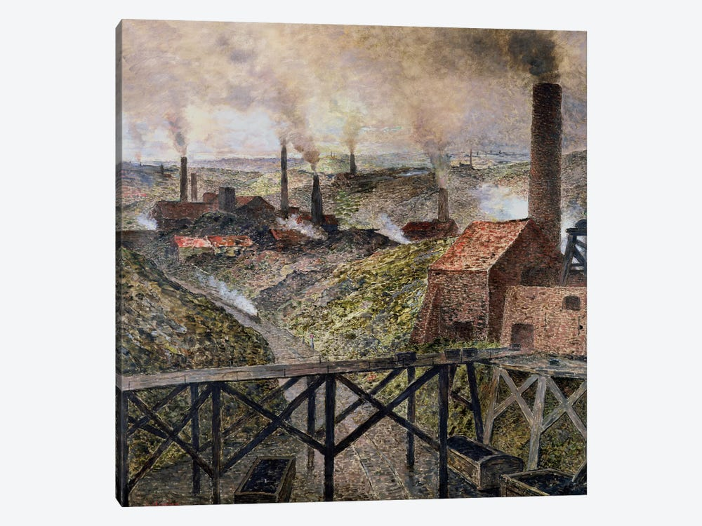 In the Black Country, 1890  by Constantin Emile Meunier 1-piece Canvas Print