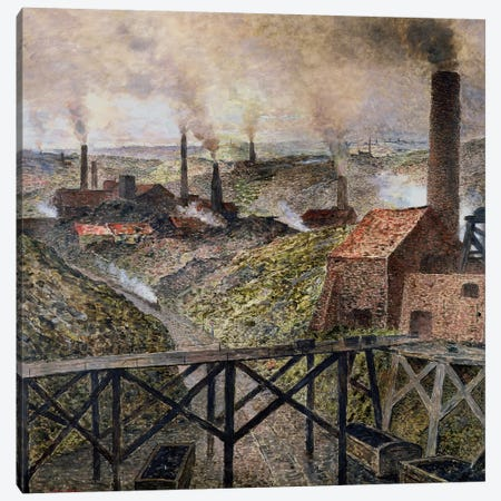 In the Black Country, 1890  Canvas Print #BMN573} by Constantin Emile Meunier Canvas Art
