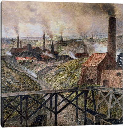 In the Black Country, 1890  Canvas Art Print