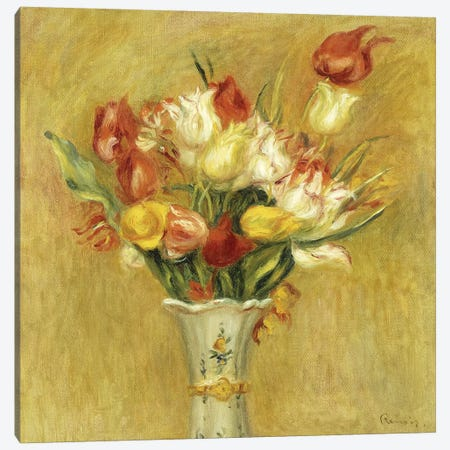 Tulipes, 1909  Canvas Print #BMN5740} by Pierre-Auguste Renoir Canvas Wall Art