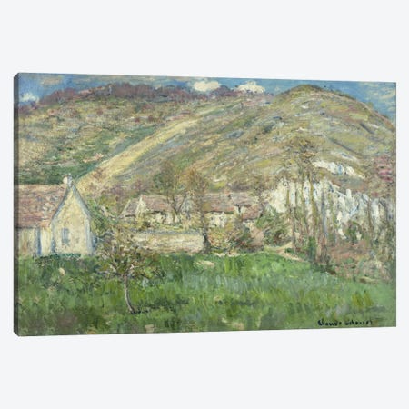 Hamlet in the Cliffs near Giverny (Hameau de Falaises pres Giverny), 1885  Canvas Print #BMN5741} by Claude Monet Canvas Art