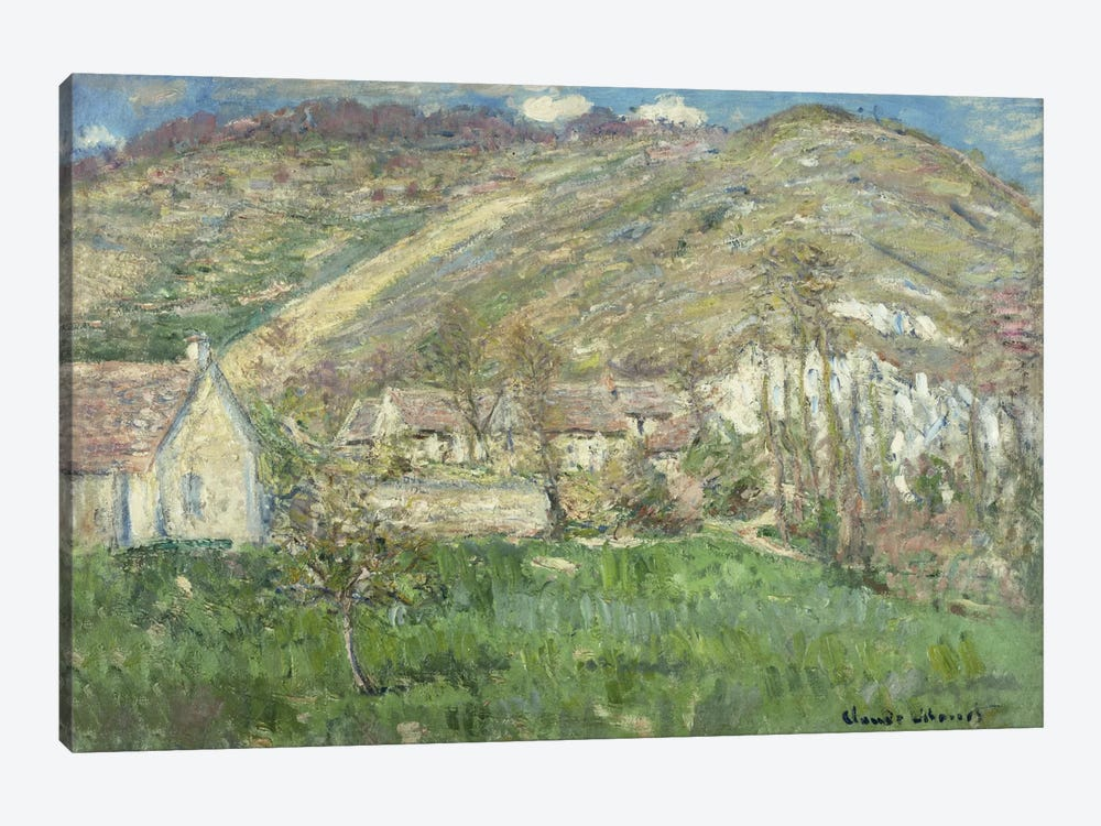 Hamlet in the Cliffs near Giverny (Hameau de Falaises pres Giverny), 1885  by Claude Monet 1-piece Canvas Print