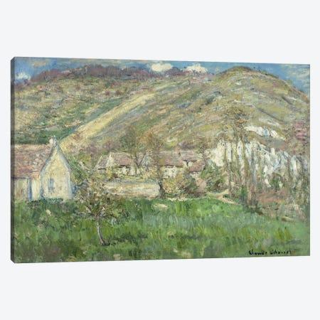 Hamlet in the Cliffs near Giverny (Hameau de Falaises pres Giverny), 1885  Canvas Print #BMN5741} by Claude Monet Canvas Art