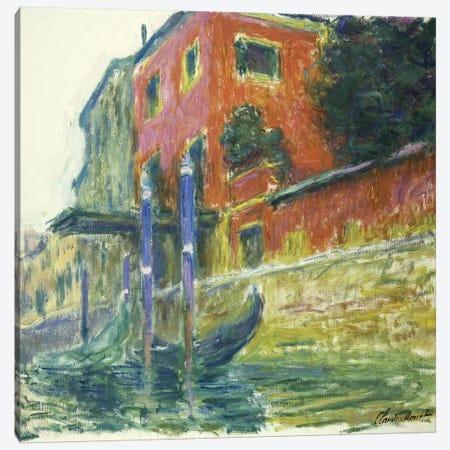The Red House (La Maison Rouge), 1908  Canvas Print #BMN5742} by Claude Monet Canvas Wall Art