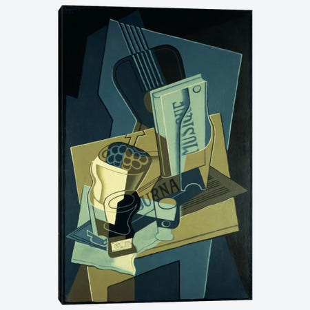 Music Book (Le Cahier de Musique), 1922  Canvas Print #BMN5743} by Juan Gris Canvas Artwork