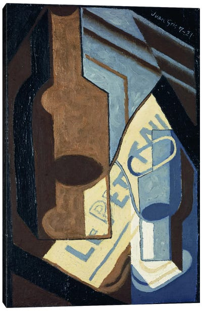 Bottle and Glass (Bouteille et Verre), 1921 Canvas Art Print