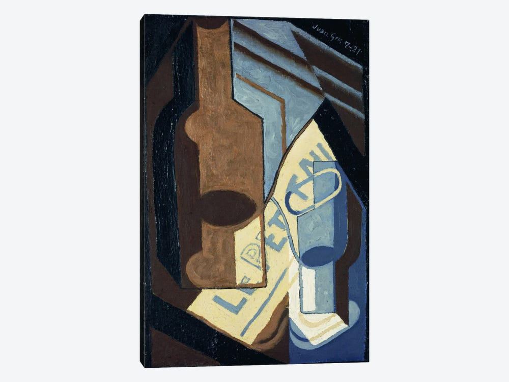 Bottle and Glass (Bouteille et Verre), 1921 by Juan Gris 1-piece Canvas Art