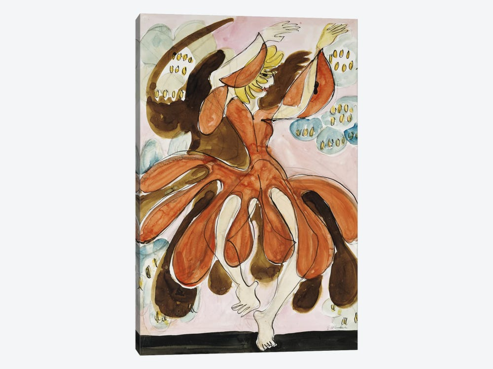 The Dancer Palucca (Die Tanzerin Palucca), c. 1930-31  by Ernst Ludwig Kirchner 1-piece Canvas Art Print
