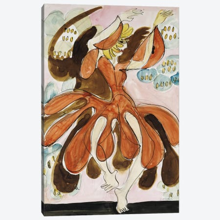 The Dancer Palucca (Die Tanzerin Palucca), c. 1930-31  Canvas Print #BMN5745} by Ernst Ludwig Kirchner Canvas Print