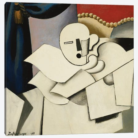The Clown (Le Pierrot), 1922  Canvas Print #BMN5746} by Roger de la Fresnaye Canvas Print