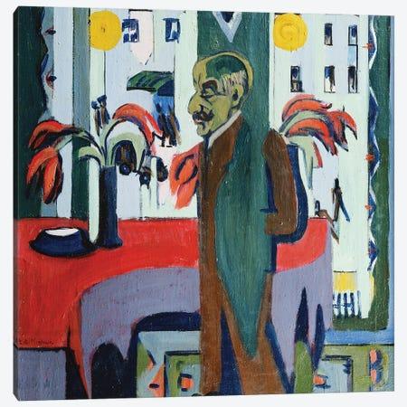 Max Liebermann in his Studio (Max Liebermann in Seinem Atelier), 1926  Canvas Print #BMN5752} by Ernst Ludwig Kirchner Art Print