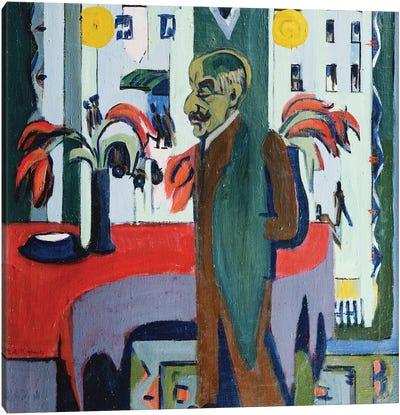 Max Liebermann in his Studio (Max Liebermann in Seinem Atelier), 1926  Canvas Art Print