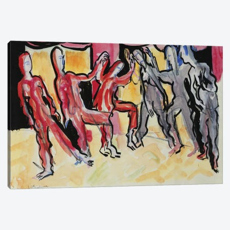 Mary Wigman Dance Group  Canvas Print #BMN5754} by Ernst Ludwig Kirchner Canvas Art