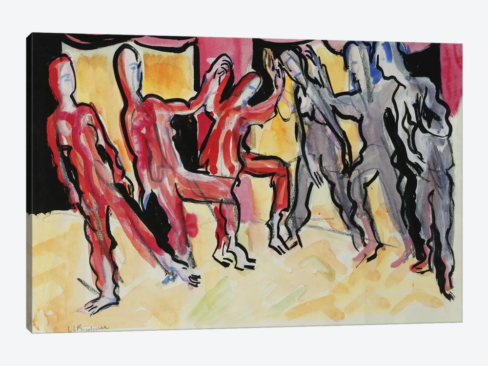 Mary Wigman Dance Group by Ernst Ludwig Kirchner 1-piece Art Print