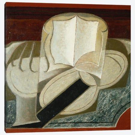 Books and Guitar (Le Livre et la Guitare), 1925  Canvas Print #BMN5755} by Juan Gris Canvas Wall Art