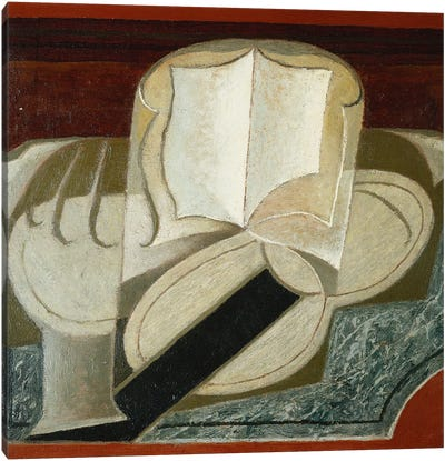 Books and Guitar (Le Livre et la Guitare), 1925  Canvas Art Print