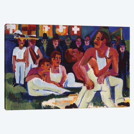 Wrestler; Ringer, 1923  Canvas Print #BMN5756} by Ernst Ludwig Kirchner Canvas Wall Art