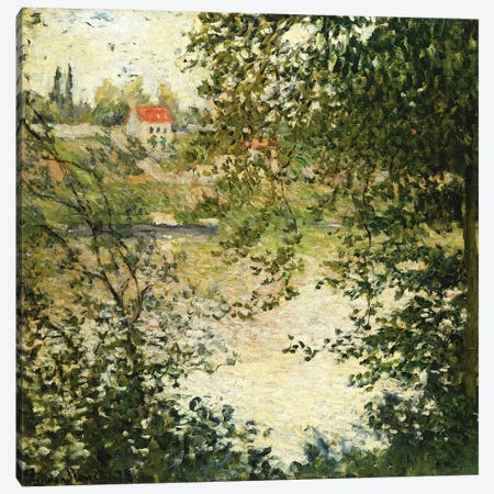 A View Through the Trees of La Grande Jatte Island (A Travers les Arbres, Ile de la Grande Jatte), 1878  Canvas Print #BMN5757} by Claude Monet Canvas Artwork
