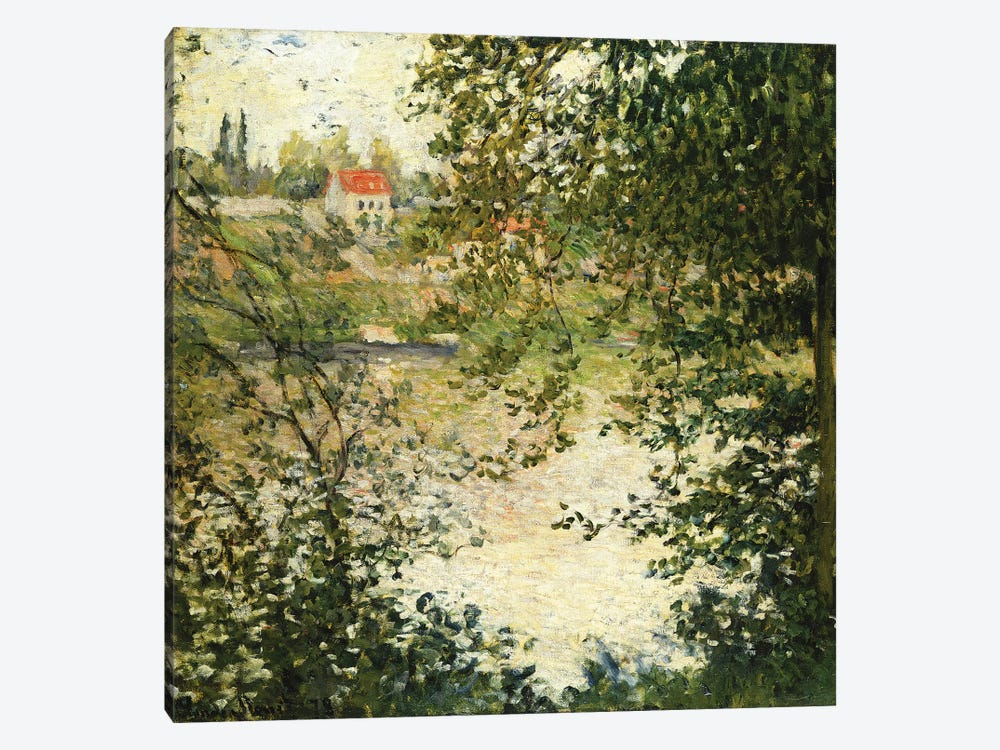 A View Through the Trees of La Grande Jatte Island (A Travers les Arbres, Ile de la Grande Jatte), 1878  by Claude Monet 1-piece Canvas Wall Art