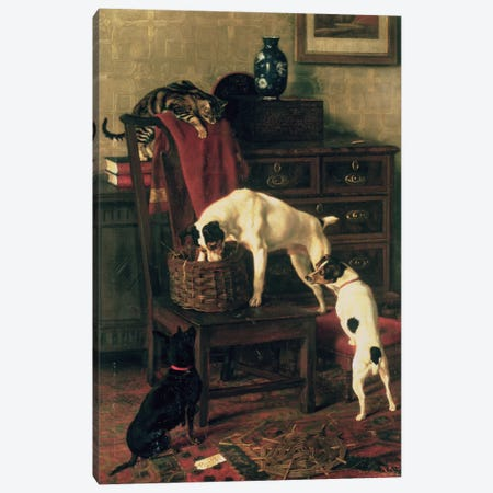 A Discreet Inquiry: Don't Disturb me at the Royal Academy, 1896 Canvas Print #BMN575} by Rupert Arthur Dent Canvas Print