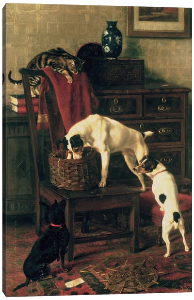 A Discreet Inquiry: Don't Disturb me at the Royal Academy, 1896 Canvas Art Print