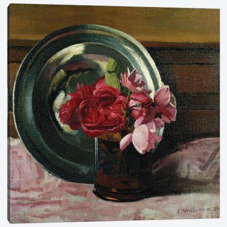 Still Life with Roses (Nature Morte aux Roses), 1920  Canvas Print #BMN5764} by Felix Edouard Vallotton Art Print