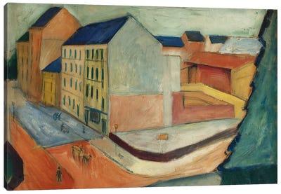 Unsere Strasse mit Reitbahn, Bonn, 1913  Canvas Art Print