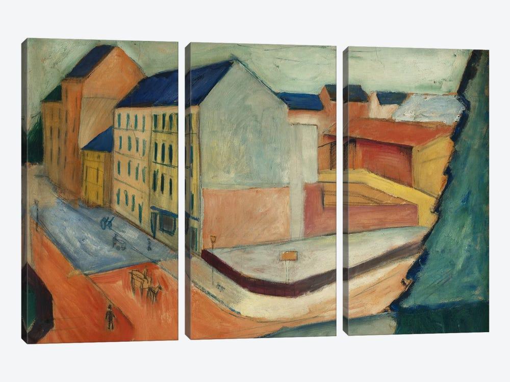 Unsere Strasse mit Reitbahn, Bonn, 1913  by August Macke 3-piece Art Print