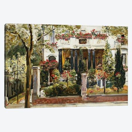 The Front Garden of the Steinbart Villa in Berlin (Der Vorgarten der Steinbartschen Villa in Berlin), 1911  Canvas Print #BMN5766} by Max Slevogt Art Print