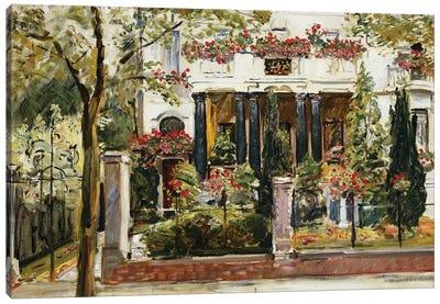 The Front Garden of the Steinbart Villa in Berlin (Der Vorgarten der Steinbartschen Villa in Berlin), 1911  Canvas Art Print