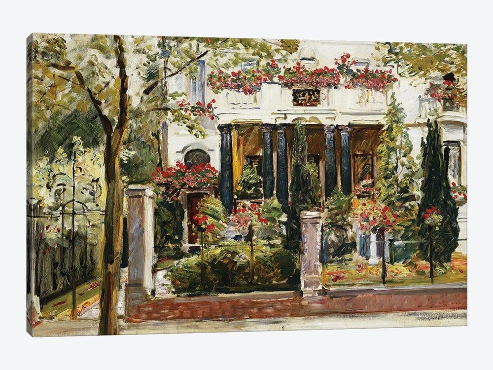 The Front Garden of the Steinbart Villa in Berlin (Der Vorgarten der Steinbartschen Villa in Berlin), 1911  by Max Slevogt 1-piece Canvas Artwork