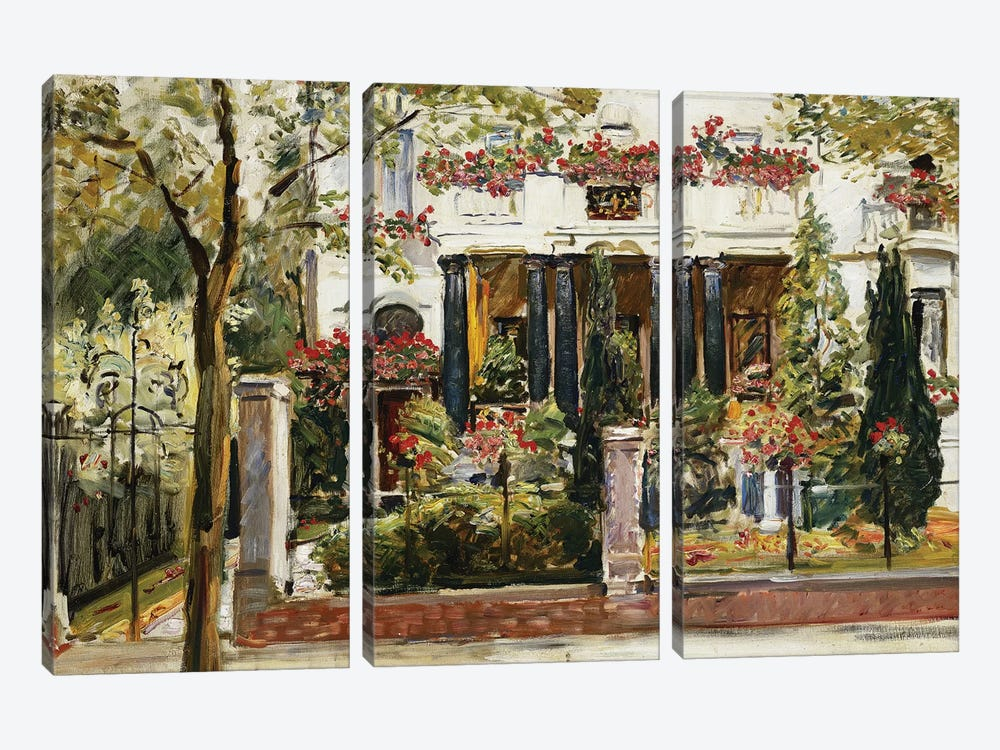 The Front Garden of the Steinbart Villa in Berlin (Der Vorgarten der Steinbartschen Villa in Berlin), 1911  by Max Slevogt 3-piece Canvas Art
