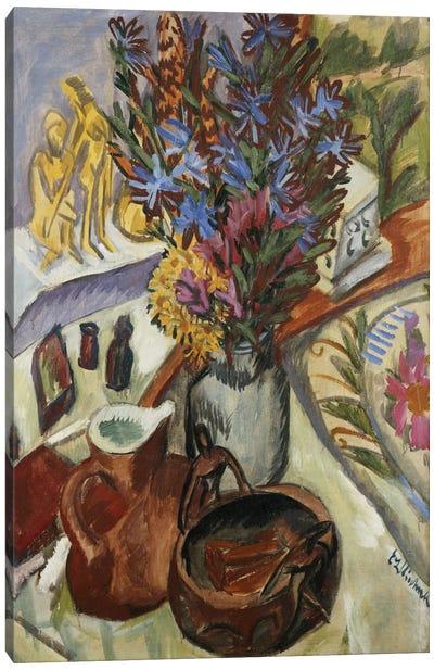Still Life with Jug and African Bowl (Stilleben mit Krug und Afrikanischer Schale), 1912  Canvas Print #BMN5768