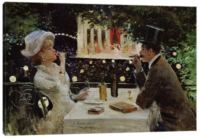 Dinner at Les Ambassadeurs, c.1882  Canvas Art Print