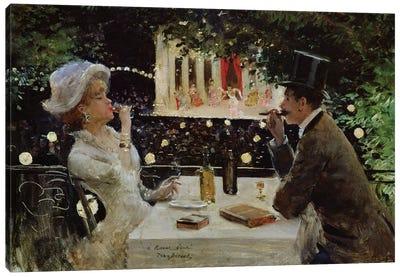 Dinner at Les Ambassadeurs, c.1882  Canvas Art Print