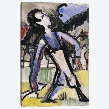 Davos Figure, 1924  Canvas Print #BMN5770} by Ernst Ludwig Kirchner Canvas Art Print