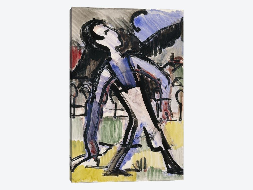 Davos Figure, 1924 by Ernst Ludwig Kirchner 1-piece Canvas Art Print