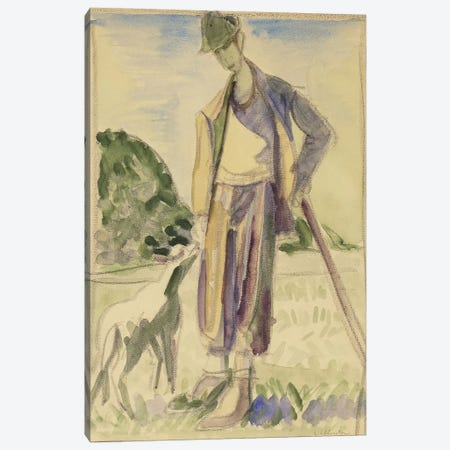The Herdsman (Der Hirte) Canvas Print #BMN5771} by Ernst Ludwig Kirchner Art Print