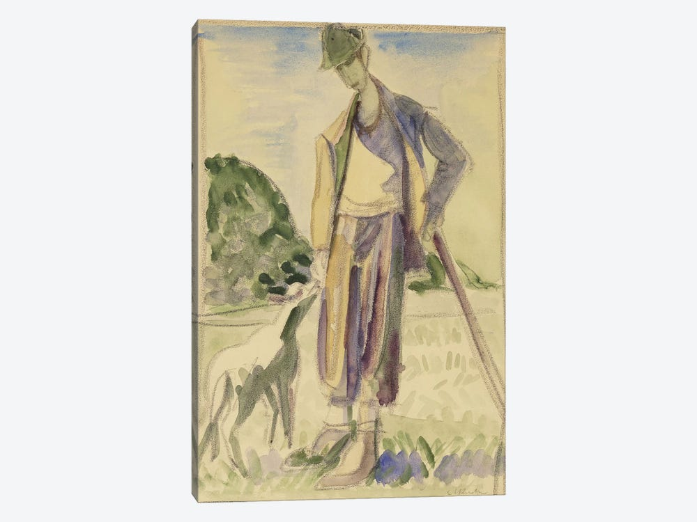 The Herdsman (Der Hirte) by Ernst Ludwig Kirchner 1-piece Canvas Artwork